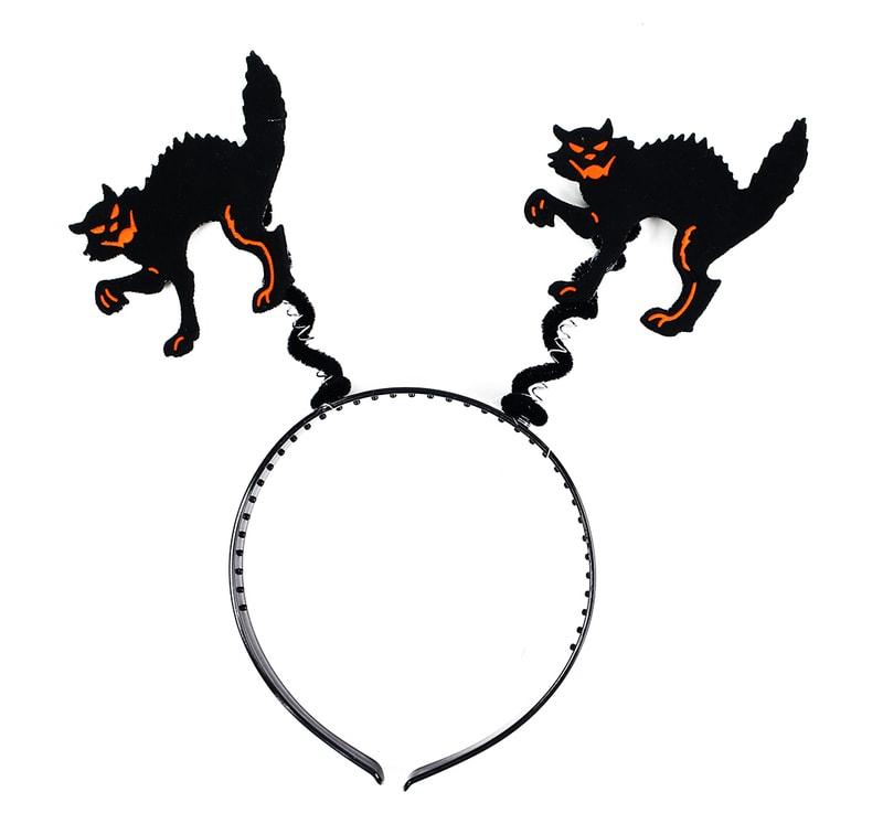 Rappa Čelenka kočka halloween/čarodějnice