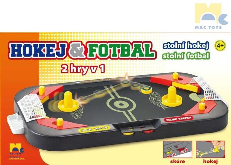 Mac Toys Hra Hokej a fotbal stolní kopaná 2v1