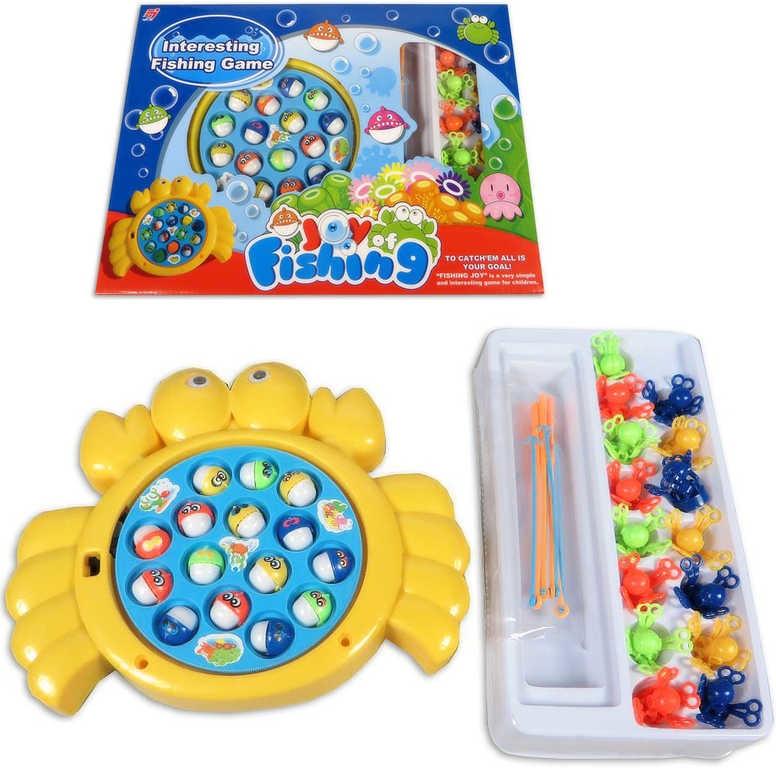 _Ostatní 1_ Rybičky na baterie plastový dětský rybolov set s prutem v krabici