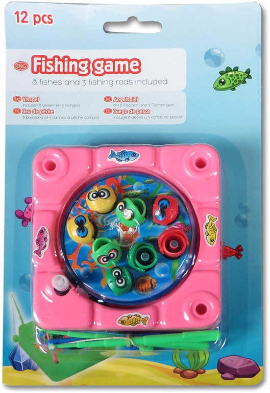 Mix hračky Rybičky magnetické mini dětský rybolov na klíček set 8 rybiček + 3 udice plast