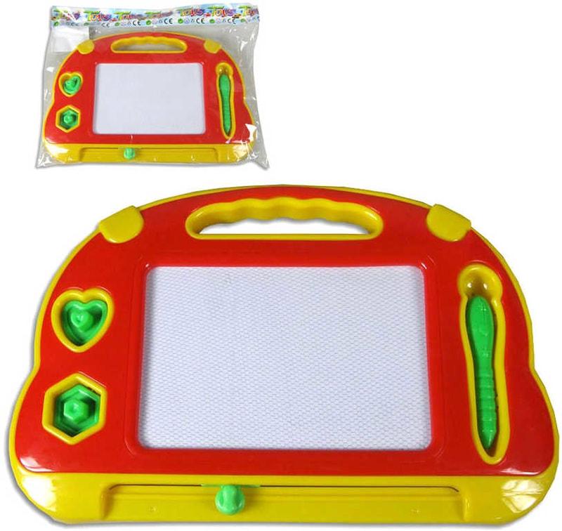_Ostatní 1_ Dětská tabulka magnetická kreslicí 34x23cm set se 2 tiskátky v sáčku plast