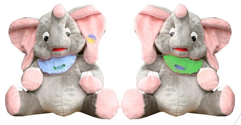 Petra Toys Plyšový slon Miro 100cm - modrá