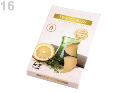 Stoklasa Čajové svíčky vonné Ø4 cm - 16 (Lemongrass) žlutooranžová