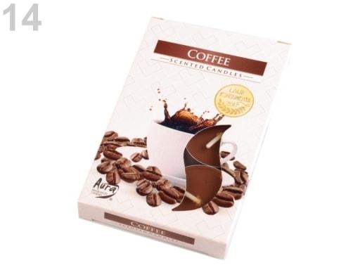 Stoklasa Čajové svíčky vonné Ø4 cm - 14 (Coffee) hnědá kávová