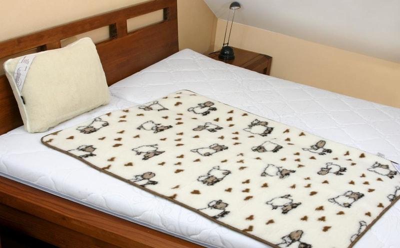 Kvalitex Vlněná dětská deka 100x150cm ovečka - evropské merino