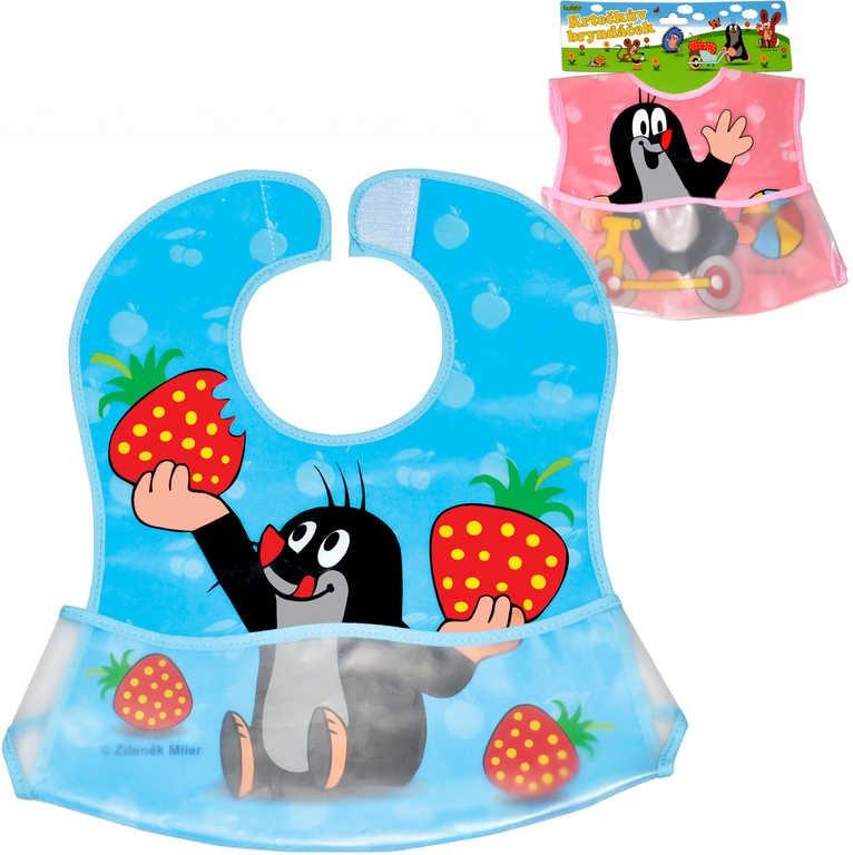 Mix hračky Bryndák dětský s kapsou baby s obrázkem Krteček pro miminko 2 druhy