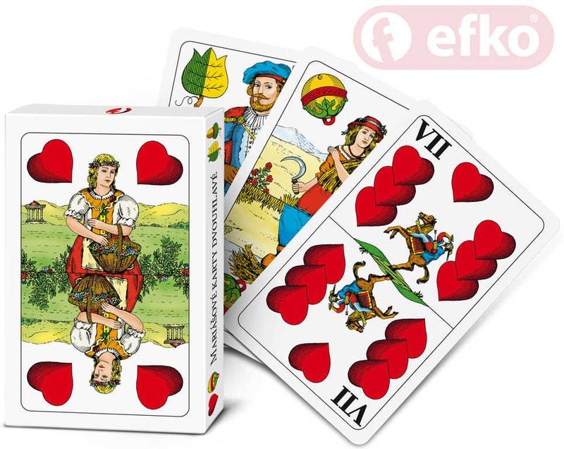 Efko Hra Karty Mariášové dvouhlavé v krabičce