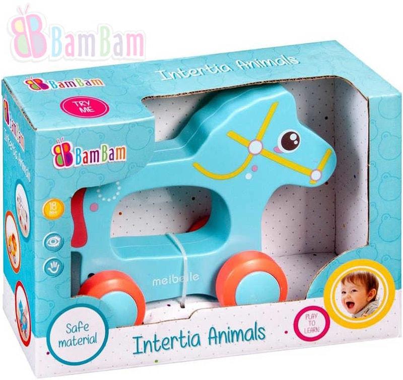 Bam Bam Baby Koník zvířátko na kolečkách plast pro miminko