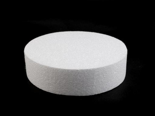 Stoklasa Dortový korpus / podstavec Ø20 cm polystyren - bílá