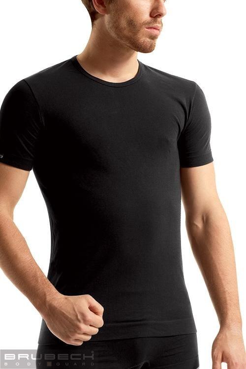 BRUBECK Pánské tričko SS 00990 T-SHIRT - bílá - S