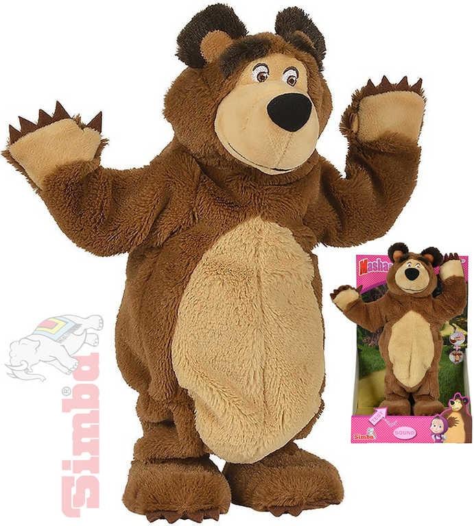 Simba Medvěd Míša tančící 35cm na baterie Máša a medvěd Zvuk