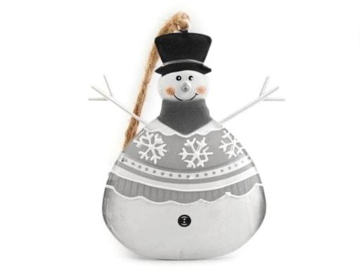 Stoklasa Kovová dekorace sněhulák - bílá
