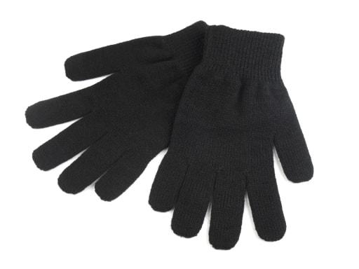 Stoklasa Pánské pletené rukavice Capu - černá