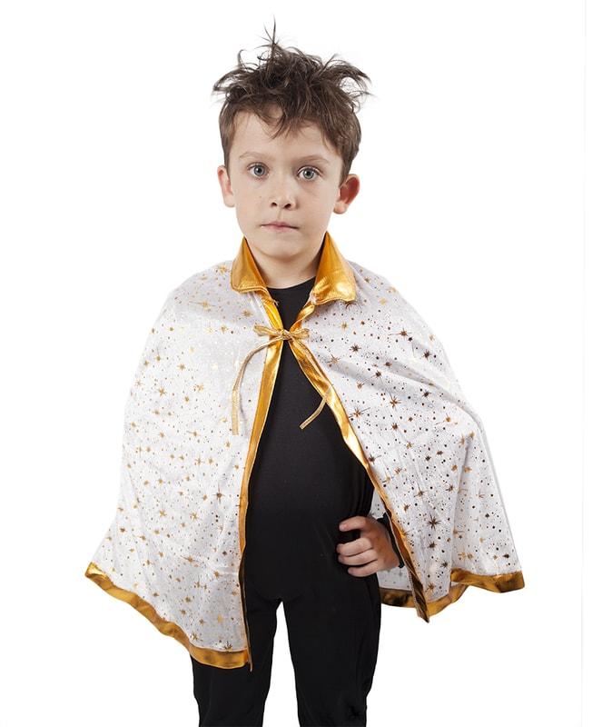 Rappa Karnevalový kostým plášť princ bílý, dětský