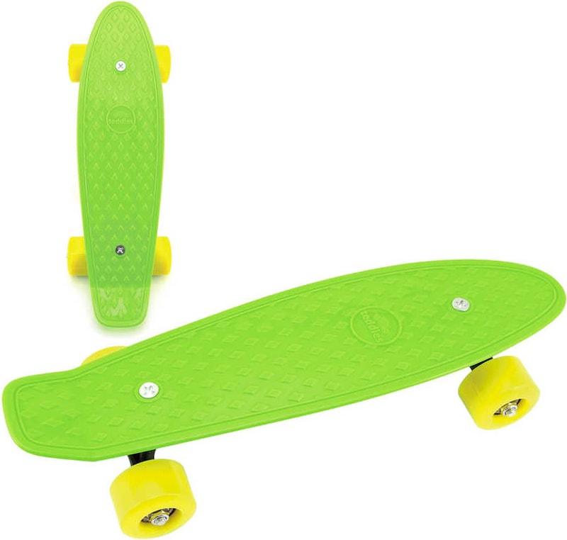 Mix hračky Skateboard dětský pennyboard zelený 43cm plastové osy žlutá kola