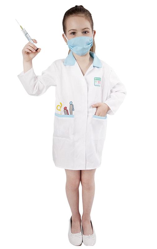 Rappa Karnevalový kostým doktorka, dětská, vel. S
