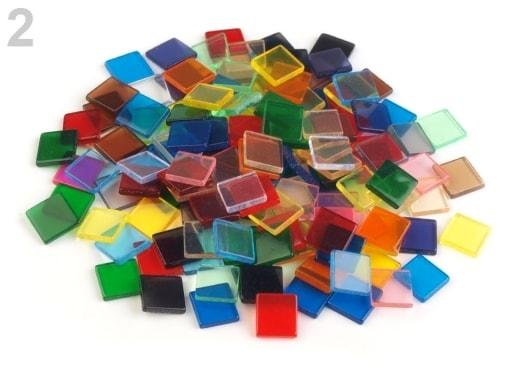 Stoklasa Mozaika mix 10x10 mm - 2 mix transparent