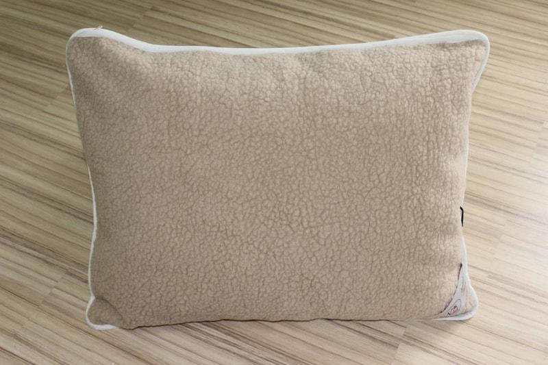 Kvalitex Vlněný polštář 70x90cm bílý / béžový - evropské merino