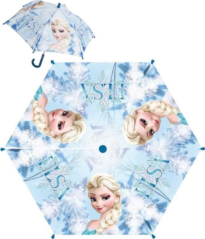 Mix hračky Deštník dětský Frozen Elsa modrý manuální skládací (Ledové Království)