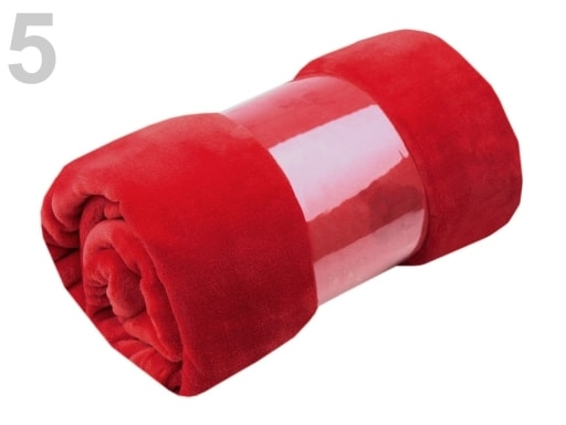 Stoklasa Deka Coral fleece 150x200 cm - 5 červená tm.
