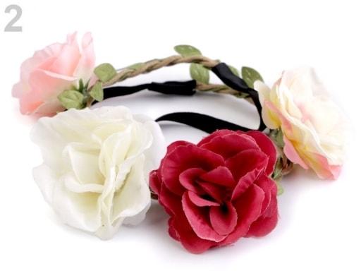 76631d605cc Pružná čelenka do vlasů s květy Zvětšit. Previous  Next