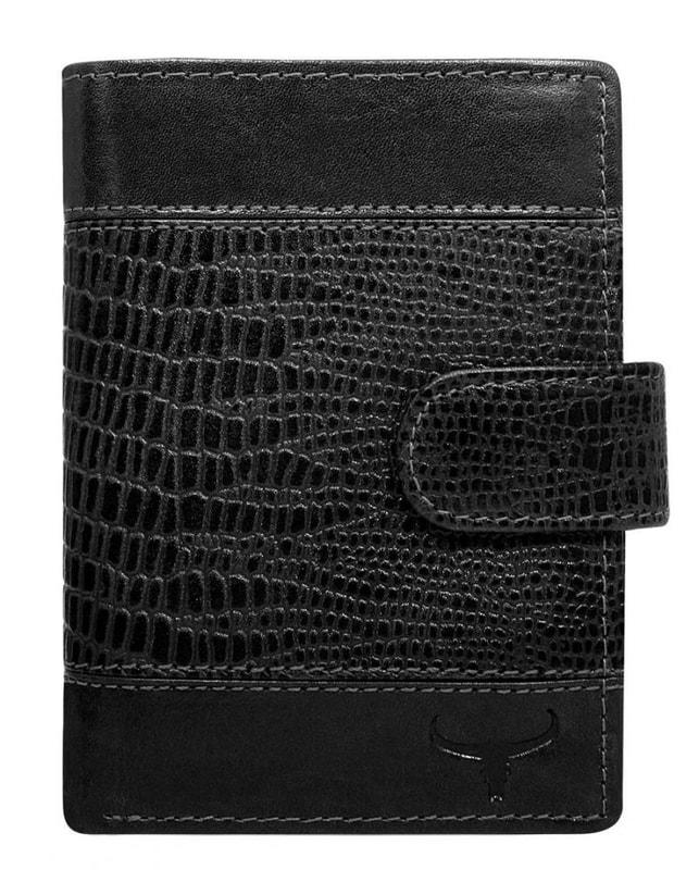 9faabb8799 Kožená pánská peněženka černá RFID v krabičce WILD