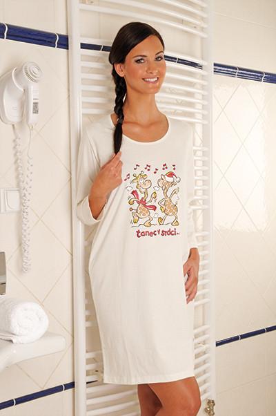 Andrie Noční košile PS 9163 - smetanová - XL