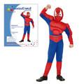 Dětský kostým PAVOUČÍ MUŽ vel.M (120-130 cm)