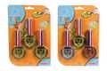 Medaile 3 kusy na kartě