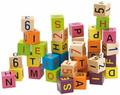 Kostky barevné ČÍSLA a PÍSMENA 44 dílků