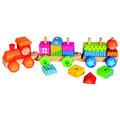 Vlak s domečky skládací kostky