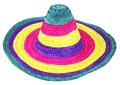Klobouk slaměný barevný dospělý