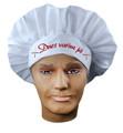 Čepice kuchař dospělý s nápisem