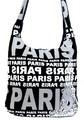 Moderní crossbody taška PARIS s bílým potiskem