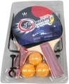Pálky na stolní tenis set s míčky a doplňky na kartě