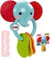 Kousátko slon s kroužkem s oříšky pro miminko plast