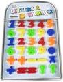 Číslice barevné dětská magnetická sada 30ks počítání na kartě plast
