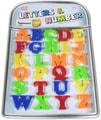 Písmenka barevná abeceda dětská magnetická sada 26ks na kartě