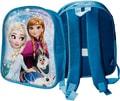 Batůžek dětský na zip 1 kapsa Frozen (Ledové Království) na záda modrý