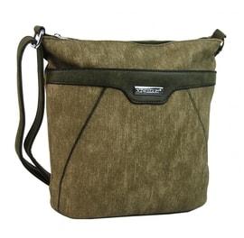 Crossbody kabelka s čelní zipovou přihrádkou HB022 khaki a6e67b76110
